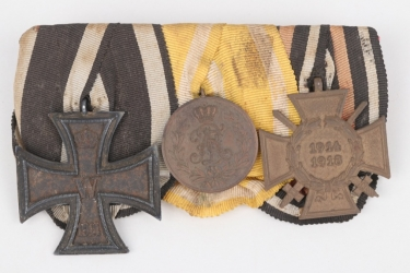 Saxony - 3-place medal bar