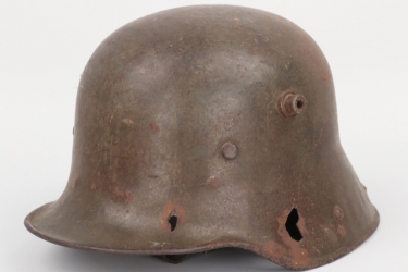 """Imperial Germany - M1916 """"retained missile"""" helmet"""