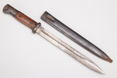 Imperial Germany - bayonet SG 84/98 with sawback blade