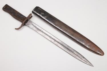 "Imperial Germany - ""Ersatz"" bayonet 88/98 FAG scabbard"