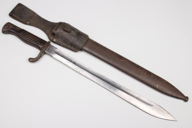 Imperial Germany - bayonet 98/05 with frog - removed saw back