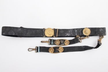 Third Reich - Kriegsmarine officer's belt with dagger hanger