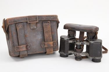 """Imperial Germany - """"DF 03"""" binoculars in case"""