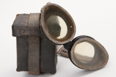 """Imperial Germany - """"Atemschützer"""" gas protection goggles with case"""