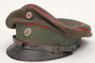 Bavaria - M1915 fieldgrey officer's visor cap with field band