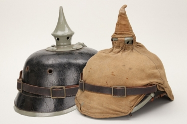 Imperial Germany - M1915 infantry spike helmet with cover