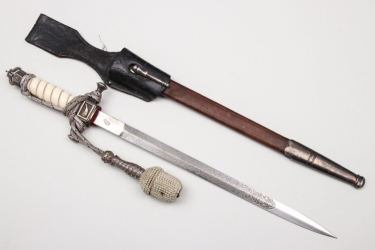 Prussia - Automobil Corps etched dagger with frog & portepee