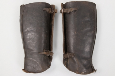 Imperial Germany - WW1 leather gaiters