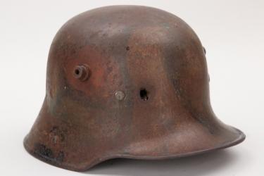 "Imperial Germany - M16 ""mimikry"" camo helmet - battle damaged"