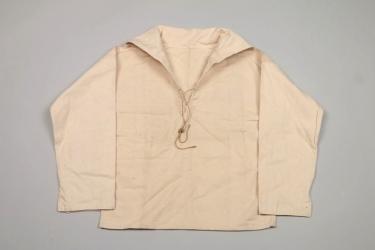 Kriegsmarine white work drill shirt + tag