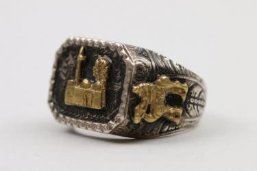 Personal Afrikakorps ring - gold/sivler