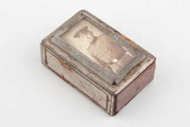 Imperial Germany - WW1 unique matchbox with photo