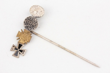 4-place miniature pin to WW1 veteran