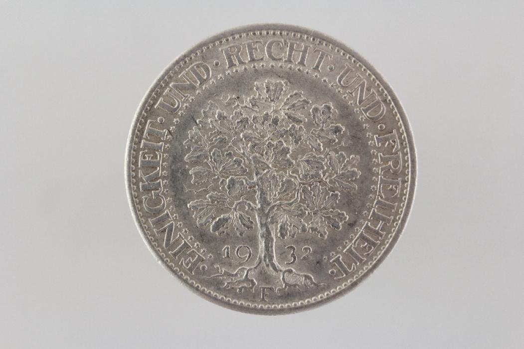 5 REICHSMARK 1932 F - EICHBAUM