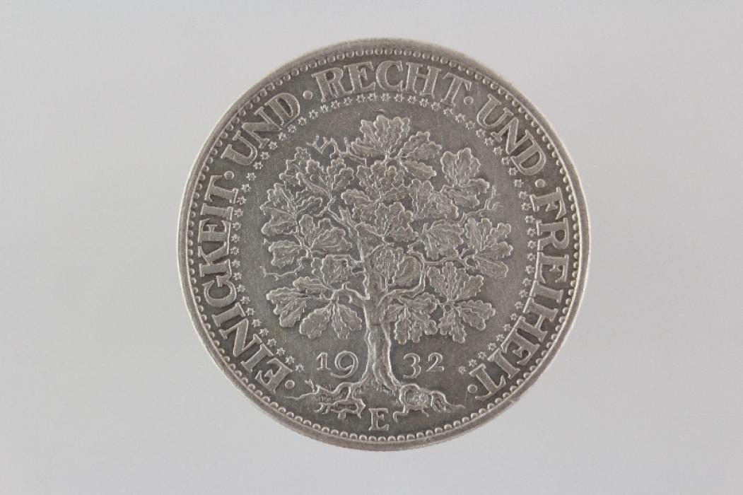 5 REICHSMARK 1932 E - EICHBAUM