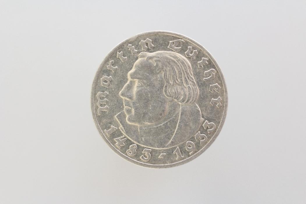5 REICHSMARK 1933 G - MARTIN LUTHER