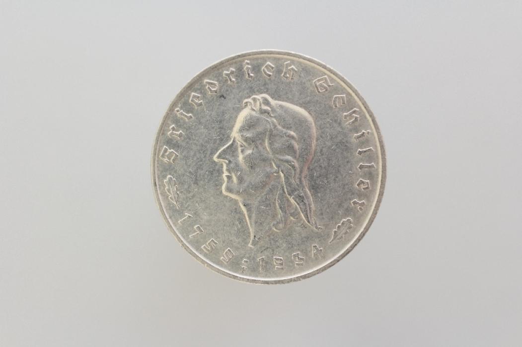5 REICHSMARK 1934 F - FRIEDRICH VON SCHILLER