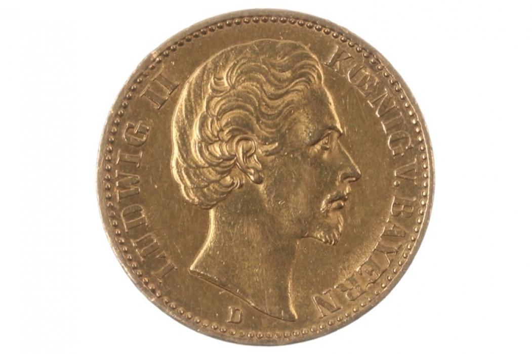 20 MARK 1872 D - LUDWIG II (BAVARIA)