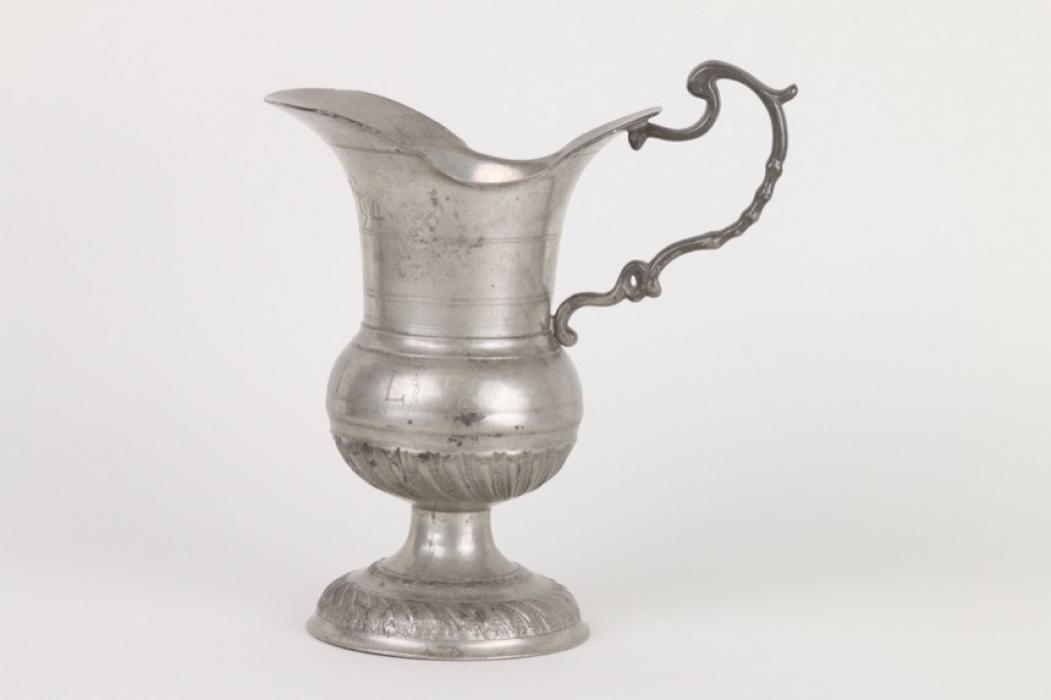 Barocke Zunftkanne aus Zinn, deutsch, datiert 1794