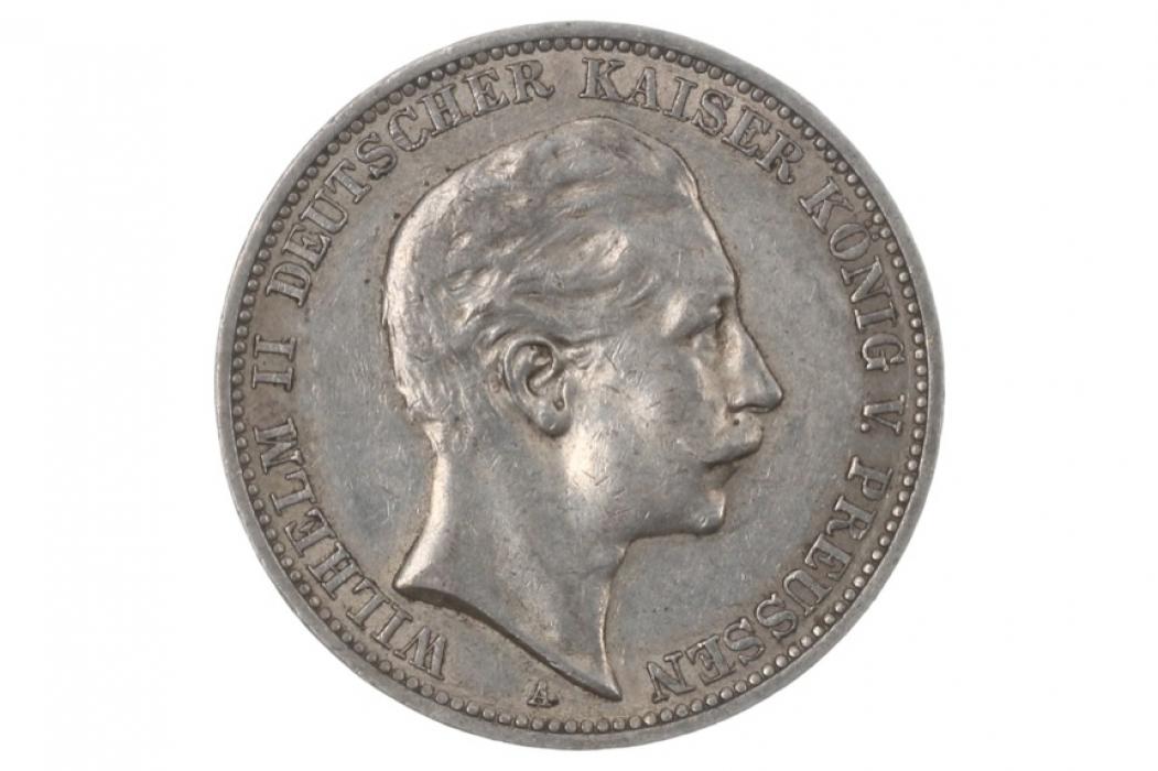 3 MARK 1911 A - WILHELM II (PRUSSIA)
