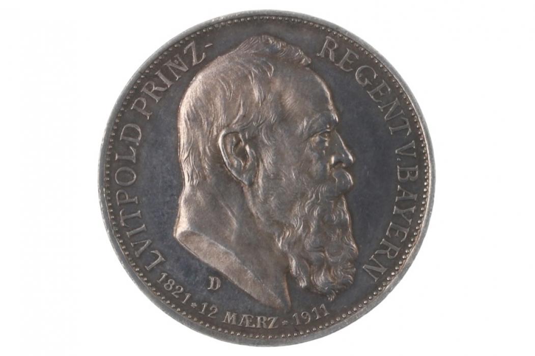 3 MARK 1911 D - LUITPOLD (BAVARIA)
