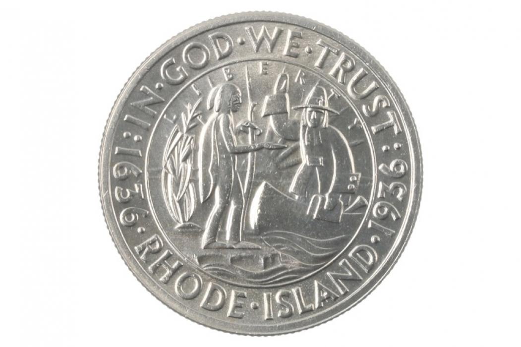1/2 DOLLAR 1936 - RHODE ISLAND (USA)