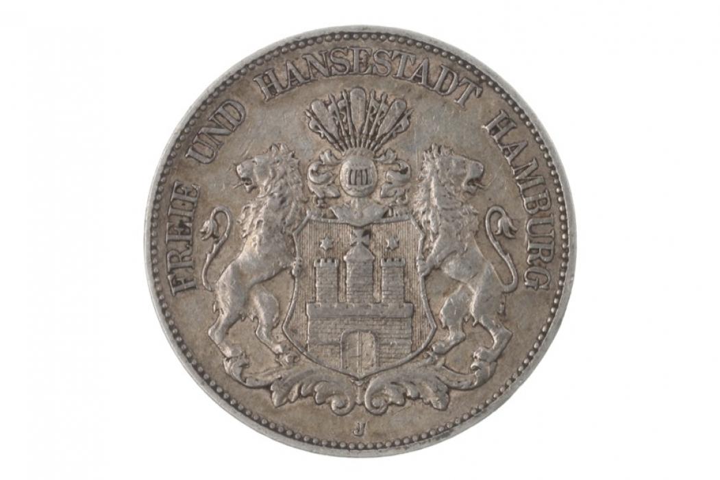 5 MARK 1902 J - HAMBURG