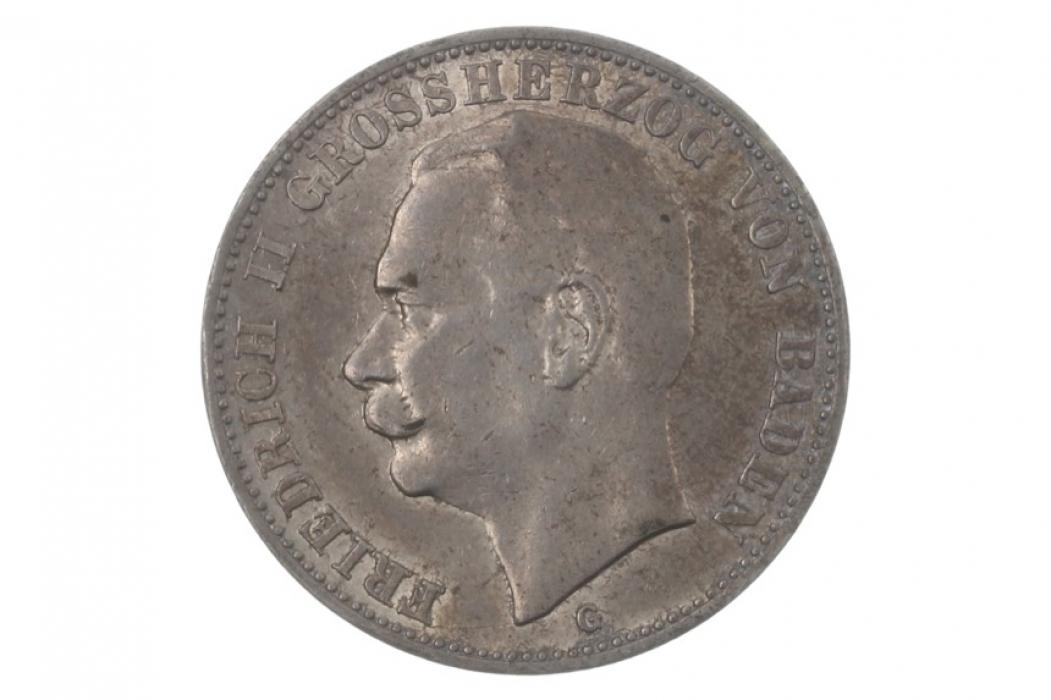 3 MARK 1908 G - FRIEDRICH II (BADEN)