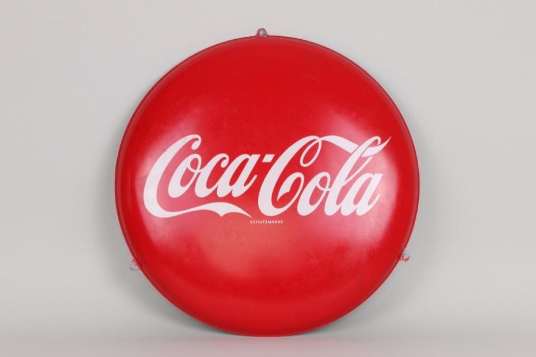 Coca-Cola Werbe-Blechschild, 70er Jahre