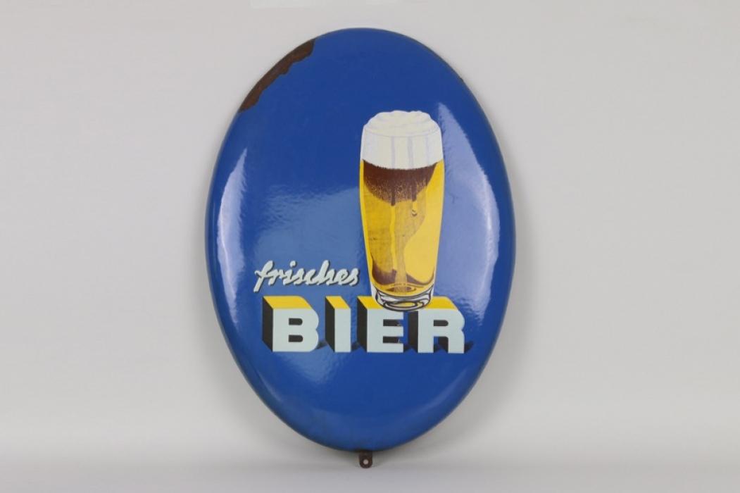 """Emailschild """"Frisches Bier"""", 60er/70er Jahre"""