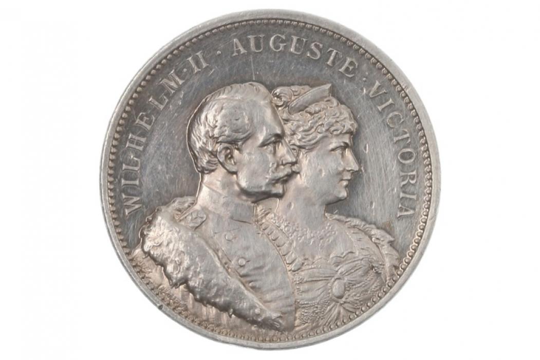 MEDAL 1906 - SILBERHOCHZEIT - WILHELM II - AUGUSTE VICTORIA (PREUSSEN)