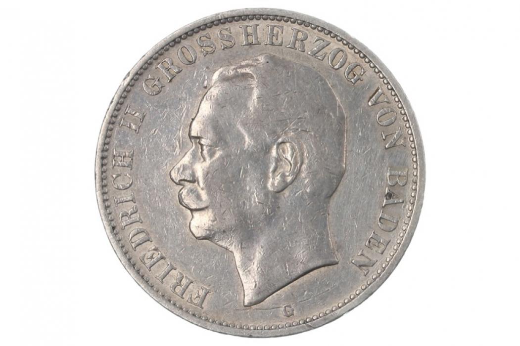 5 MARK 1908 G - FRIEDRICH II (BADEN)