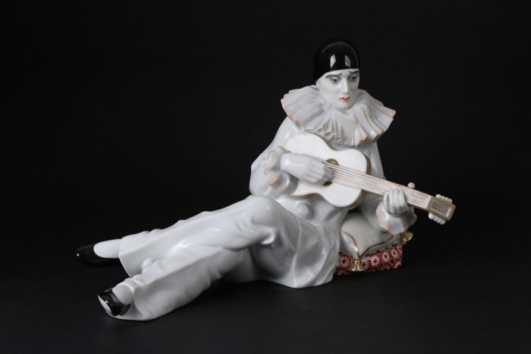 Rosenthal Porzellanskulptur Figurine Pierrot Harlekin mit Gitarre