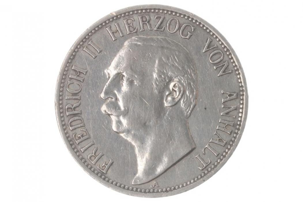 3 MARK 1911 A - FRIEDRICH II (ANHALT)