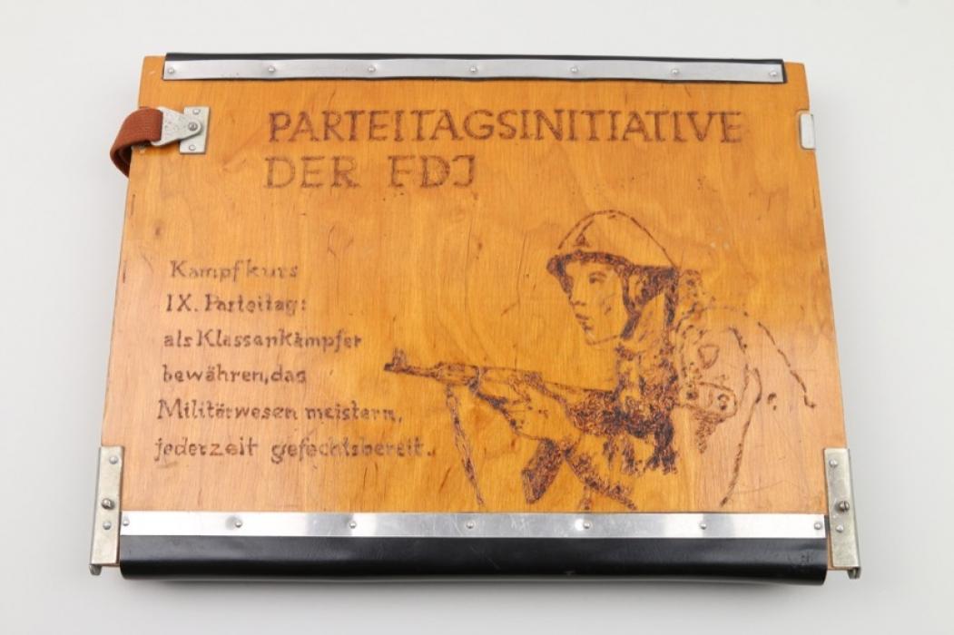 East German FDJ map case