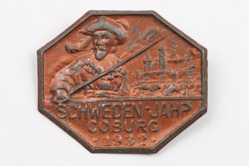 Anstecker Coburg Schwedenjahr Coburg 1912