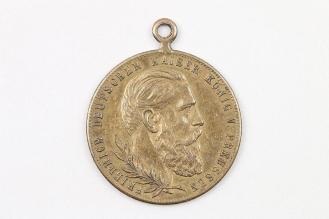 Kaiser Friedrich III. 1888 Lerne leiden ohne zu klagen Medaille