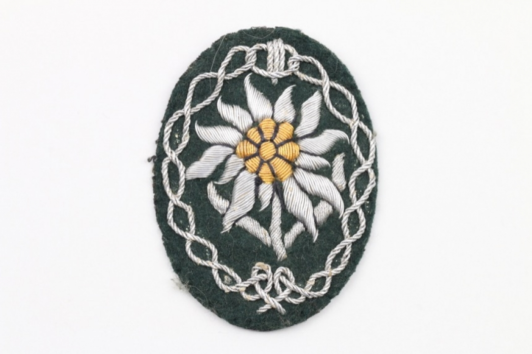 Gebirgsjäger officer's Edelweiss sleeve badge