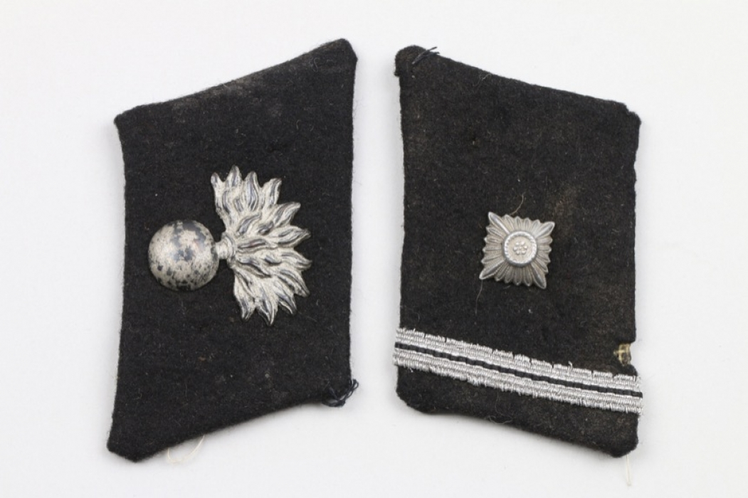 Waffen-SS Landstorm Nederland collar tabs - SS-Scharführer