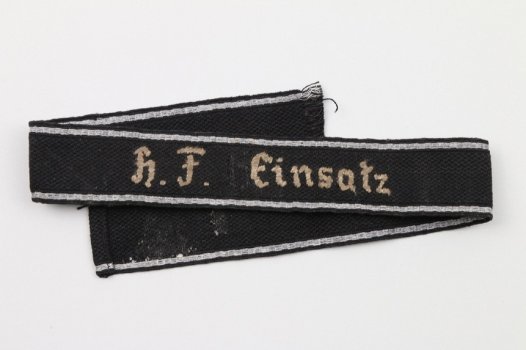 """Unknown Waffen-SS cuffband """"H.F. Einsatz"""""""