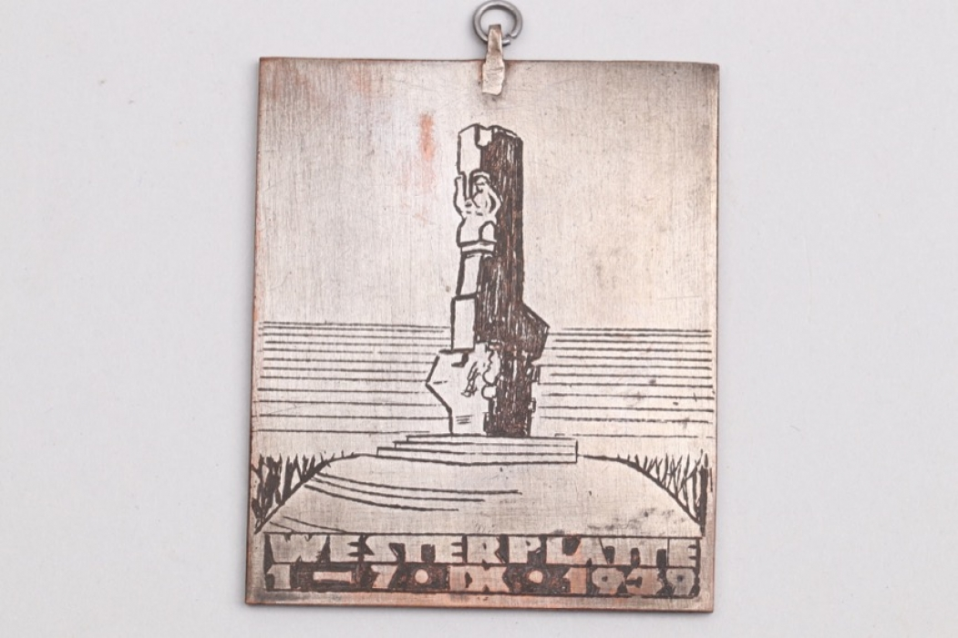 Wehrmacht Westerplatte 1939 metal tag