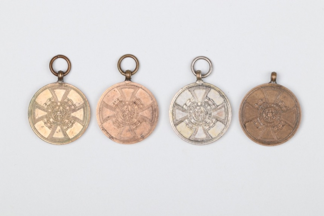 4 + Prussian 1848-1849 Hohenzollern Commemorative Medal