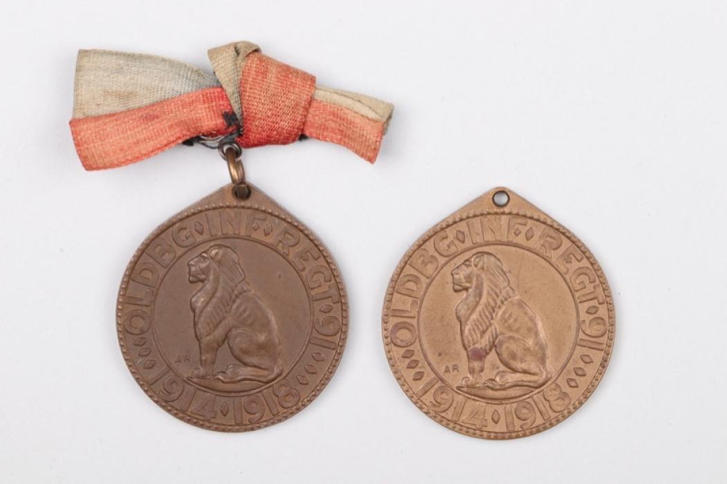 2 + Oldenburg Infantry Regiment No. 91 Medal