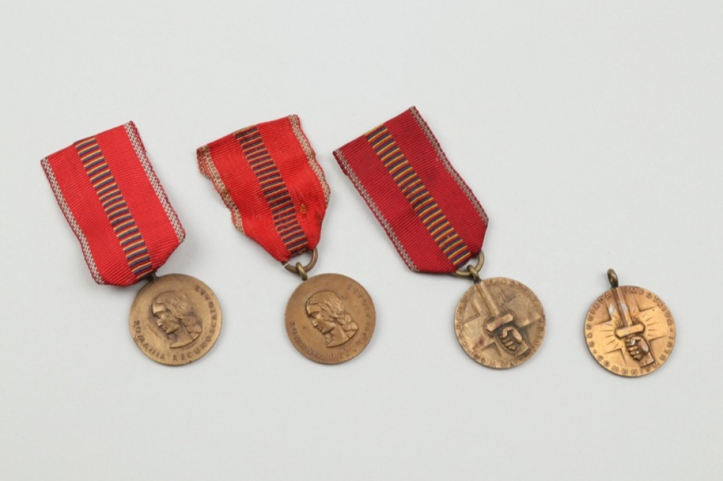 4 + Romanian anti-Communism Medals