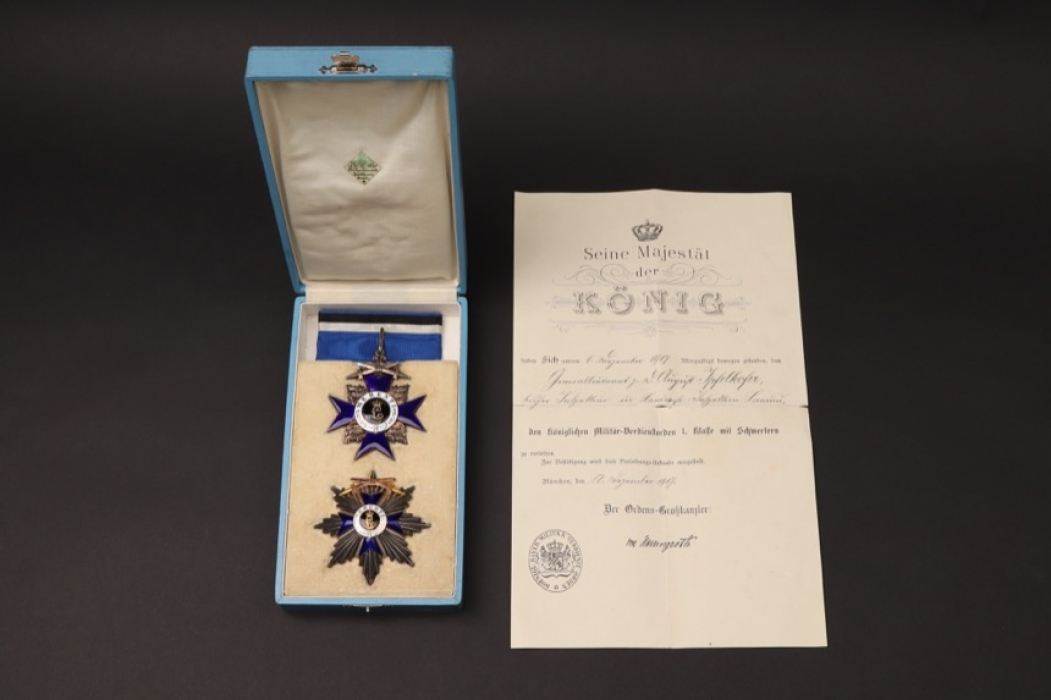 Generalleutnant Ipfelkofer - Military Merit Order 1st Class with swords grouping