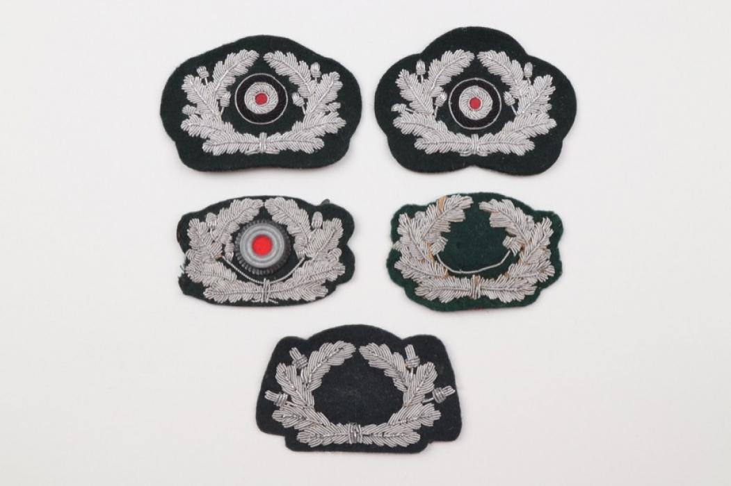 Heer lot of 5 officer's visor cap wreath badges