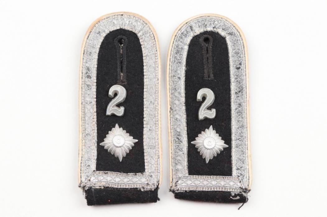 """Waffen-SS Infanterie """"2"""" shoulder boards SS-Oberscharführer"""