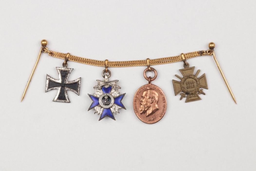 Bavaria - Military Merit Order recipient miniature chain