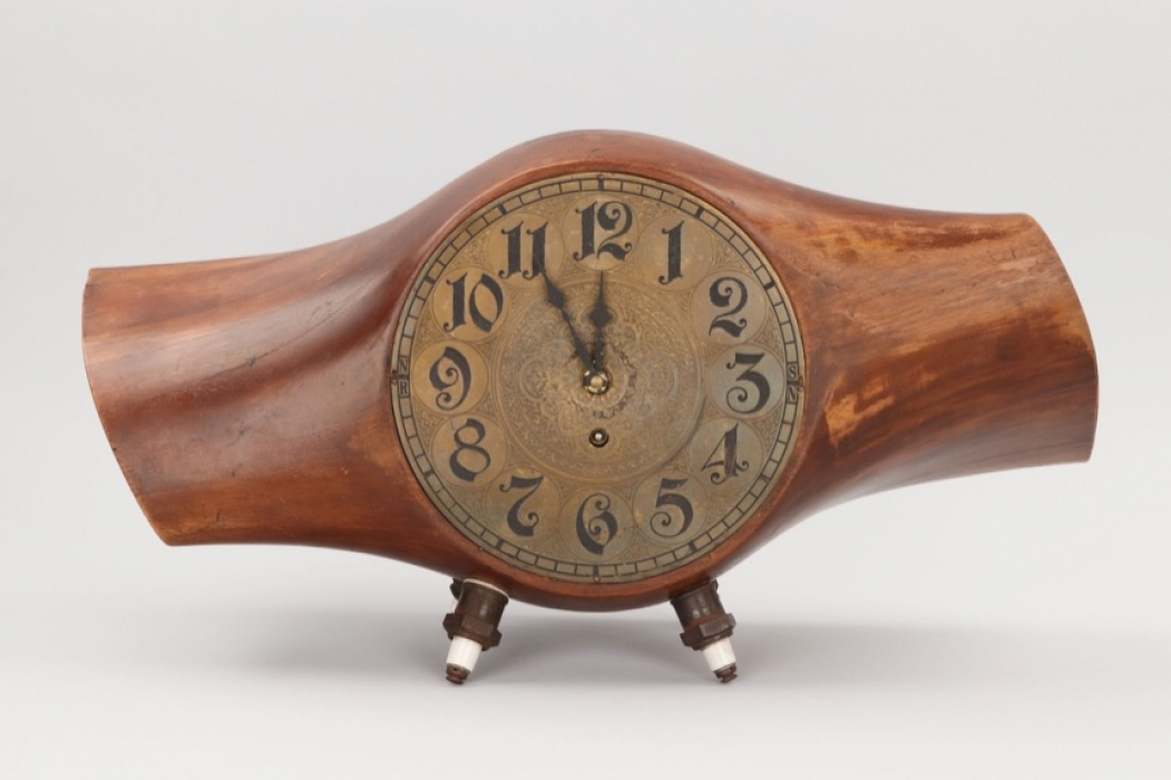 Imperial Germany Table Clock From Ww1 Heine Propeller Discover Genuine Militaria Antiques Coins Ratisbon S