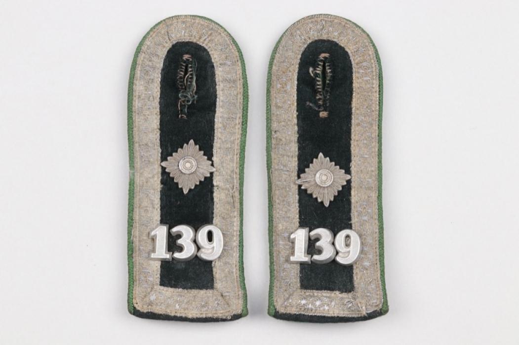 Heer Geb.Jäg.Rgt.139 shoulder boards - Feldwebel